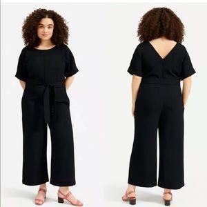 Everlane Japanese Go Weave Jumpsuit Black 8